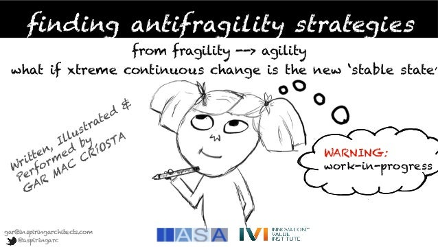 finding antifragility strategies from fragility --> agility what if xtreme continuous change is the new 'stable state'  WA...