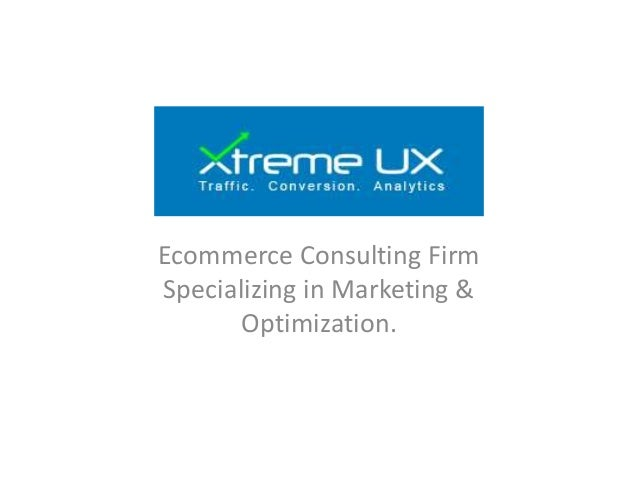 Ecommerce Consulting Firm Specializing in Marketing & Optimization.