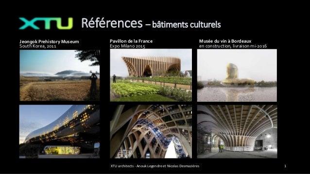 Références – bâtiments culturels Musée du vin à Bordeaux en construction, livraison mi-2016 XTU architects - Anouk Legendr...