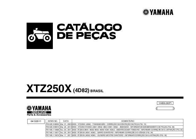 1H4D8-280P1 ( ) XTZ250X(4D82) BRASIL 04/3/2011 DATA Mar. 31 , 2009 Mar. 26 , 2010 Fev. 28 , 2011 Fev. 28 , 2011 Mar. 11 , ...