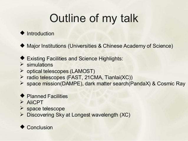 Cosmology Research in China Slide 2