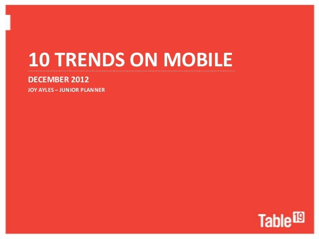 10 TRENDS ON MOBILE..........................................................................................................