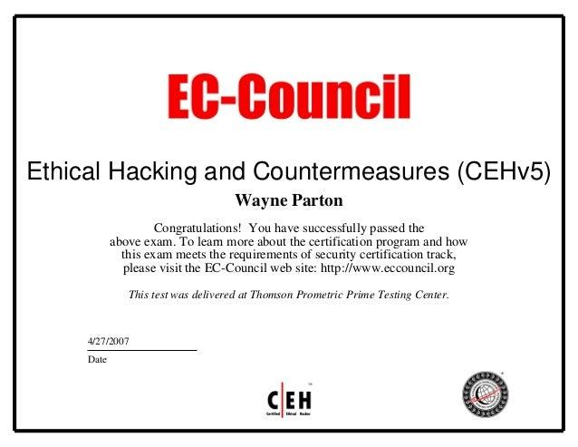 0407 Ceh Certificate