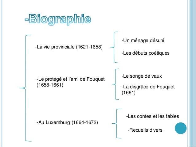 -La vie provinciale (1621-1658) -Un ménage désuni -Les débuts poétiques -Le protégé et l'ami de Fouquet (1658-1661) -Le so...