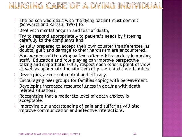 Care Of Dying Client