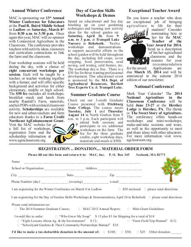 Winter 2014 School Gardening News ~ Massachusetts