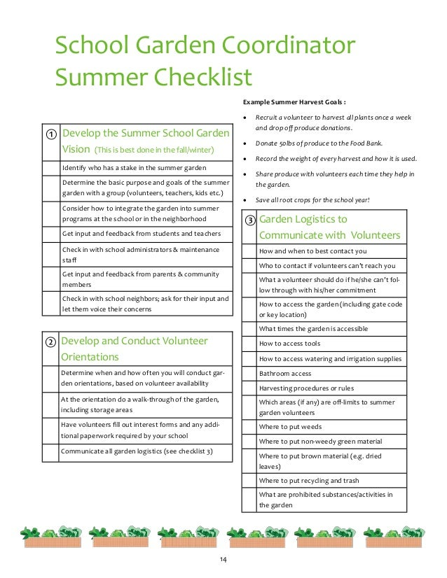 Summer in the school garden a resource for working with for Garden maintenance jobs
