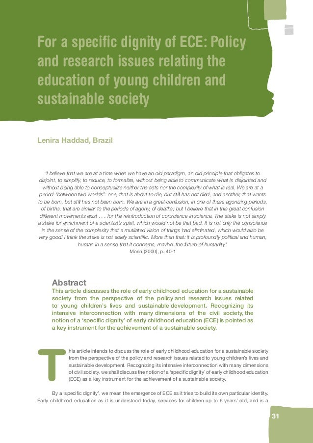 The contribution of early childhood education to a sustainable society early childhood education as it is understood today services for children up to 6 years old and is a 30 publicscrutiny Gallery