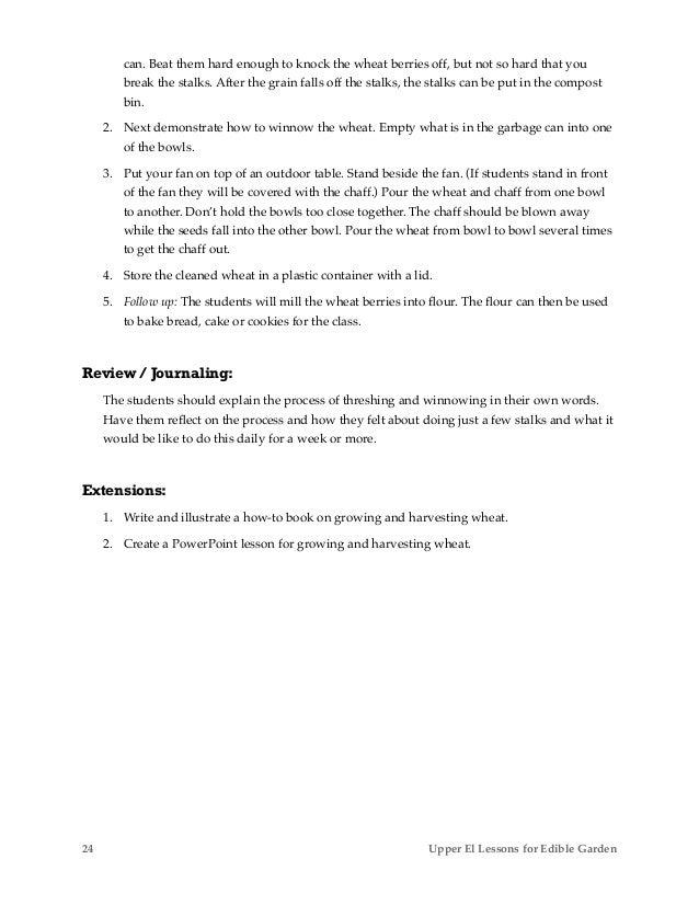 George Watts Montessori School Edible Garden Primary Lessons For Clas
