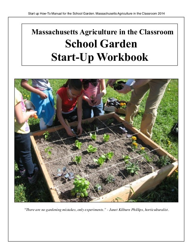 Start up How-To Manual for the School Garden. Massachusetts Agriculture in the Classroom 2014  Massachusetts Agriculture i...