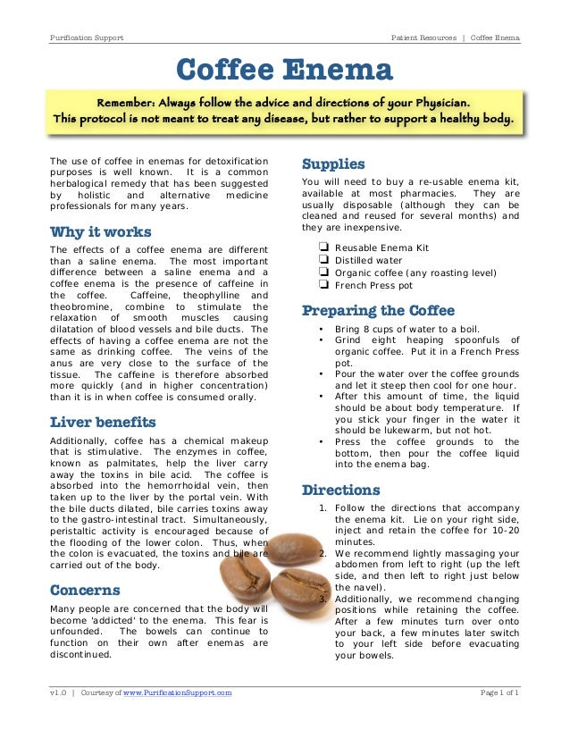 Benefits Of Organic Coffee Enema