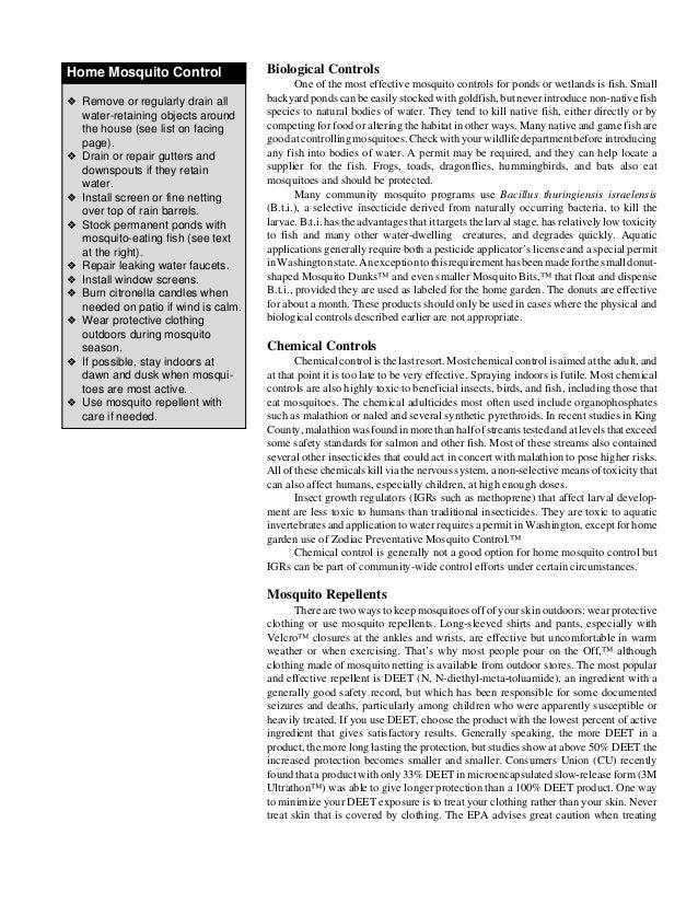 Mosquito Megabites: Effective Mosquito Control - 웹