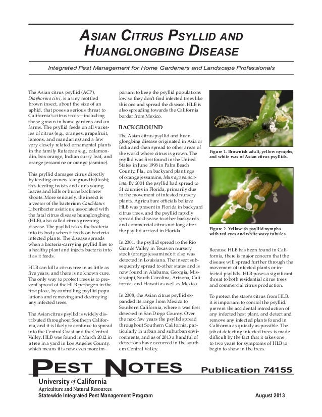 Statewide Integrated Pest Management Program August 2013  PEST NOTES Publication 74155  Integrated Pest Management for Hom...