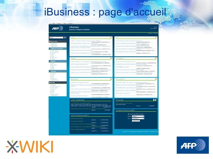 iBusiness : page d'accueil