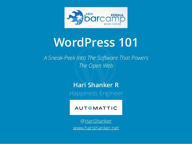 Hari Shanker R Happiness Engineer @HariShanker