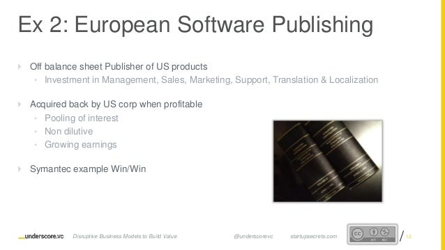 Proprietary and ConfidentialProprietary and Confidential  Off balance sheet Publisher of US products • Investment in Mana...