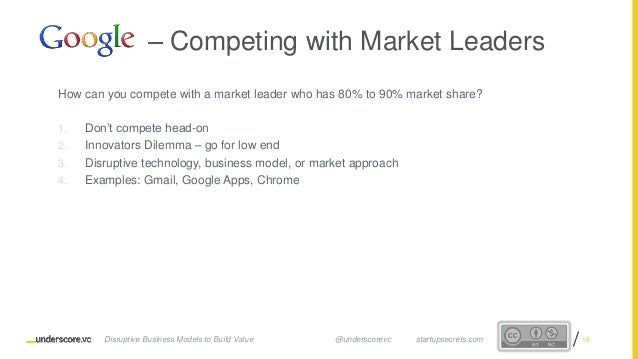 Proprietary and ConfidentialProprietary and Confidential How can you compete with a market leader who has 80% to 90% marke...