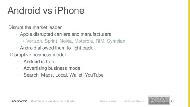 Proprietary and ConfidentialProprietary and Confidential Disrupt the market leader • Apple disrupted carriers and manufact...