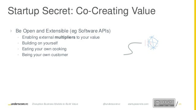 Proprietary and ConfidentialProprietary and Confidential Startup Secret: Co-Creating Value Disruptive Business Models to B...