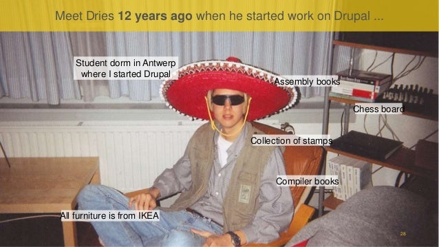 Proprietary and ConfidentialProprietary and Confidential Meet Dries 12 years ago when he started work on Drupal ... 28 Com...