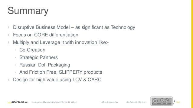 Startup Secrets - Game Changing Business Models