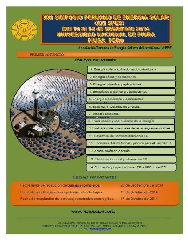 Xxi simposio de energia solar (xxi spes)