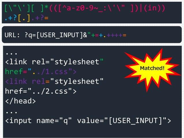 "[""'][ ]*(([^a-z0-9~_:'"" ]) (in)) .+?[.].+?= ... <link rel=""stylesheet"" href=""../1.css""> <link rel=""stylesheet"" href=""../2...."