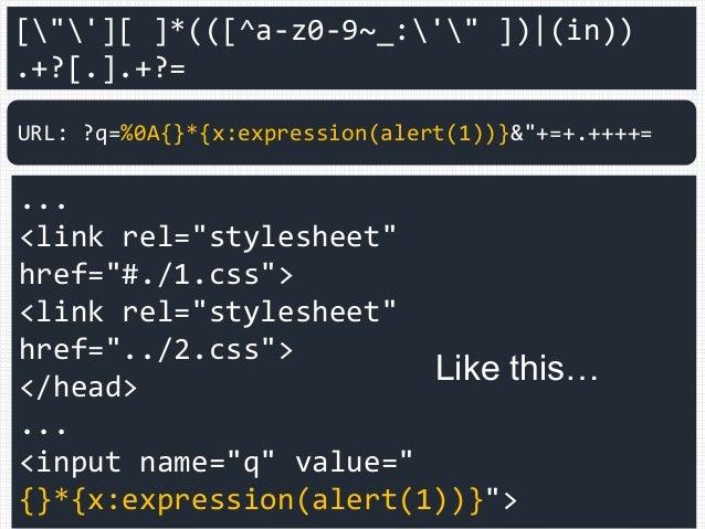 "[""'][ ]*(([^a-z0-9~_:'"" ]) (in)) .+?[.].+?= ... <link rel=""stylesheet"" href=""#./1.css""> <link rel=""stylesheet"" href=""../2...."