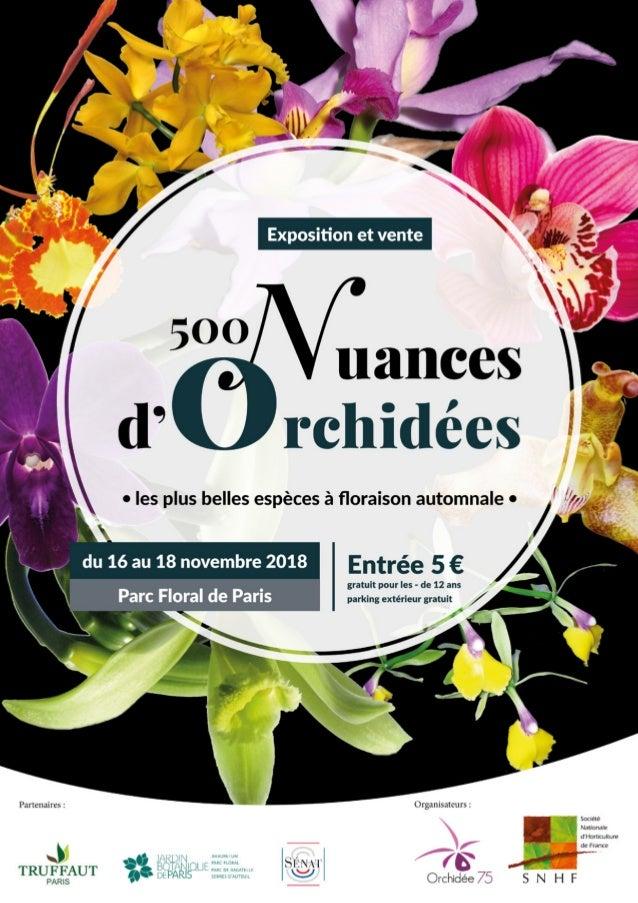 Du 16 au 18 novembre, l'association Orchidée 75 et la section orchidées de la Société Nationale d'Horticulture de France (...