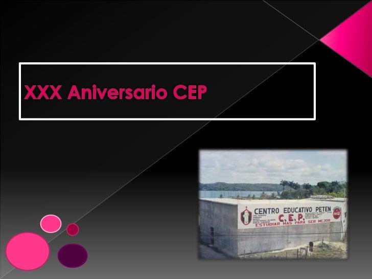 XXX Aniversario CEP<br />