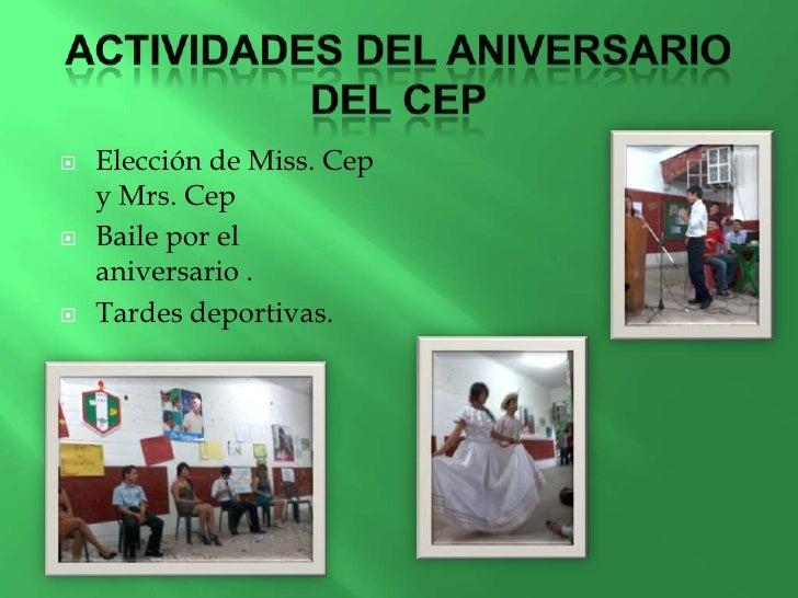 Xxx aniversario del cep for Actividades recreativas en el salon de clases