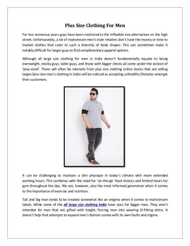c15881eeb7d Xxxl mens clothing in India