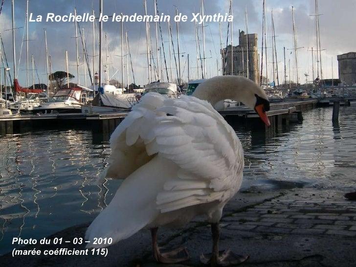 Photo du 01 – 03 – 2010 (marée coéfficient 115) La Rochelle le lendemain de Xynthia