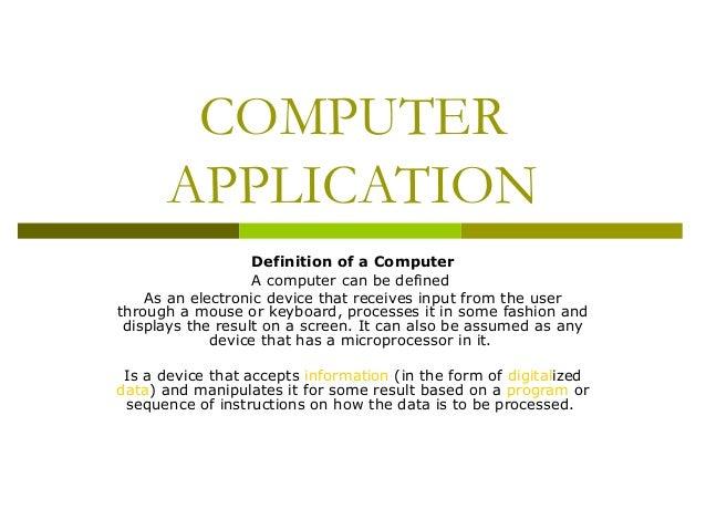 Computer - Applications