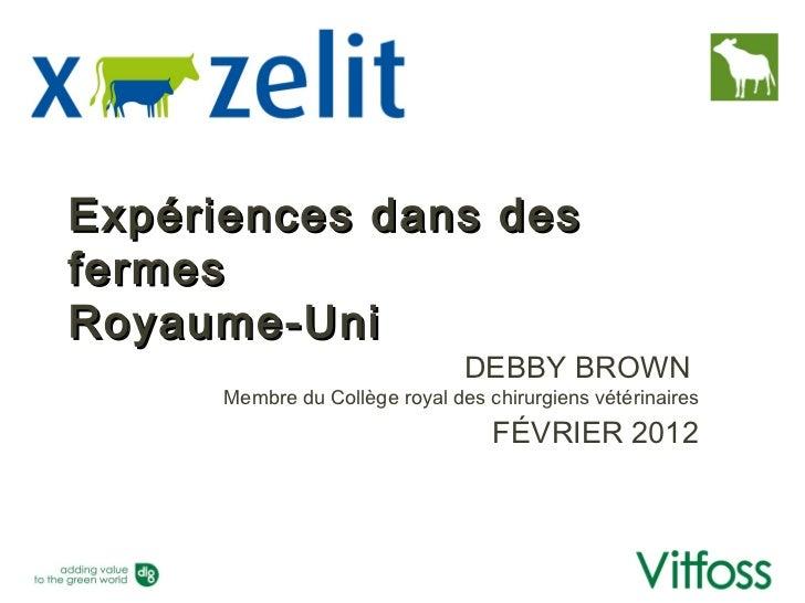 Expériences dans desfermesRoyaume-Uni                                DEBBY BROWN      Membre du Collège royal des chirurgi...