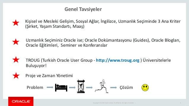 Oracle veritabanı yonetiminde onemli teknikler Slide 3