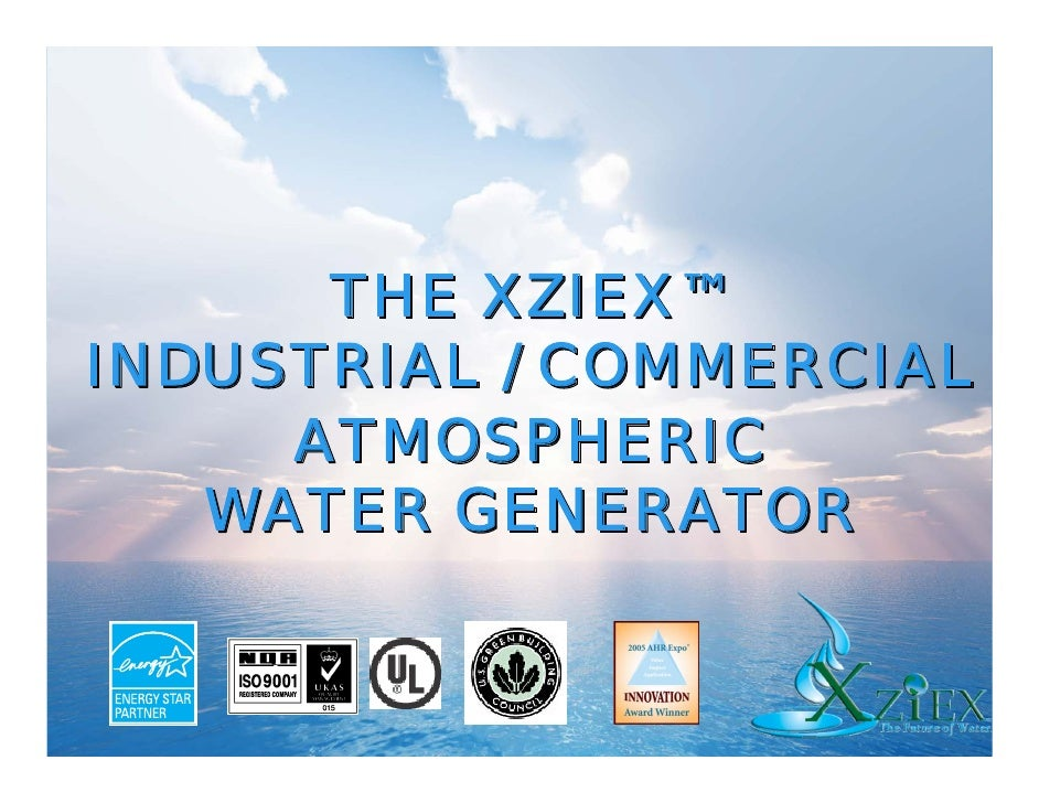 Commercial Atmospheric Water Generators Slide 2