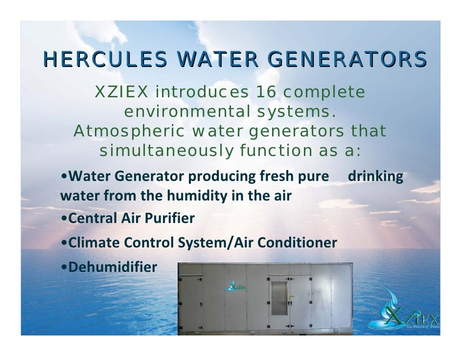 Commercial Atmospheric Water Generators Slide 3