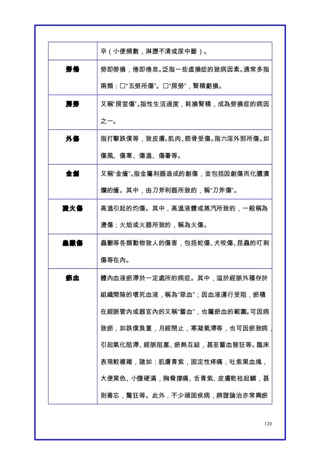 【Y.c.t】中醫名詞術語