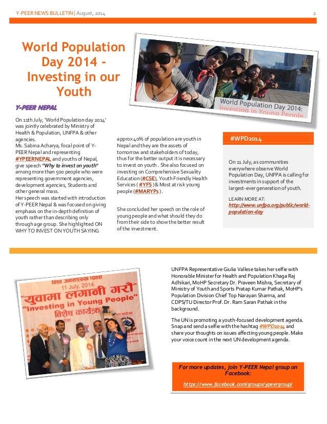 Y-PEER News Bulletin July-August 2014 Slide 2