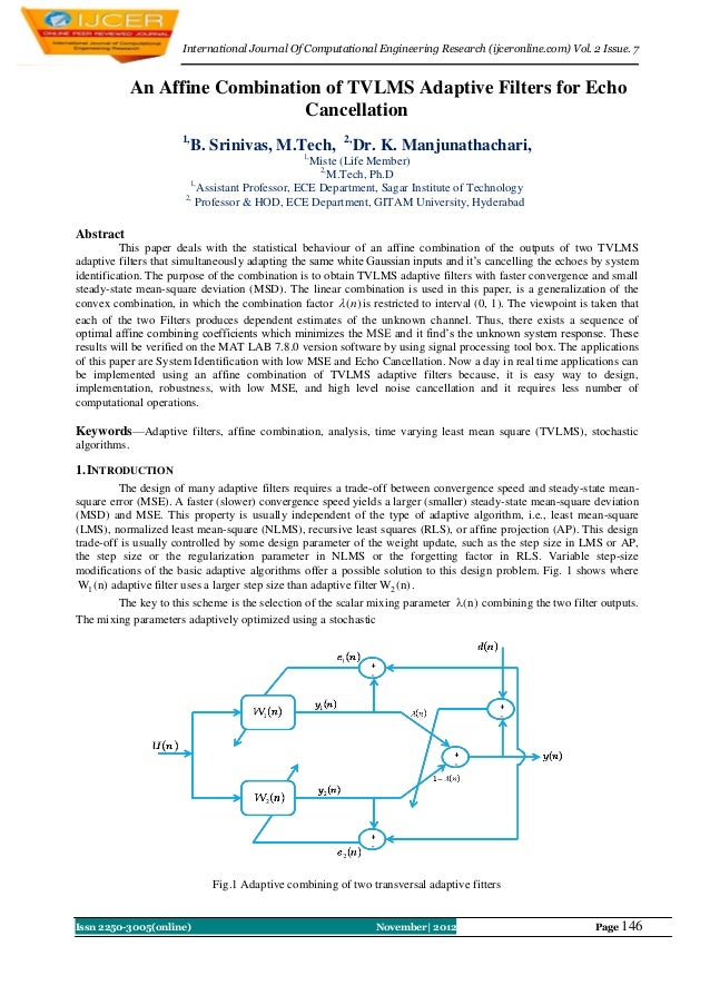 International Journal Of Computational Engineering Research (ijceronline.com) Vol. 2 Issue. 7              An Affine Combi...