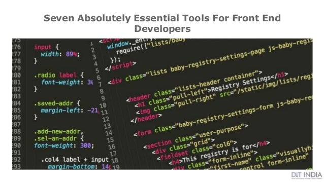 Seven Absolutely Essential Tools For Front End Developers