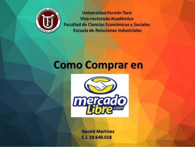Como Comprar en Gerald Martínez C.I. 19.640.018
