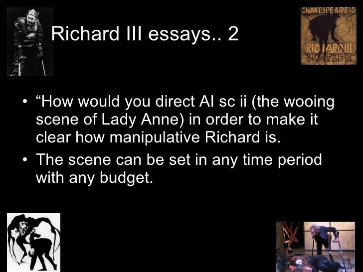 richard iii soliloquy essay We would like to show you a description here but the site won't allow us.