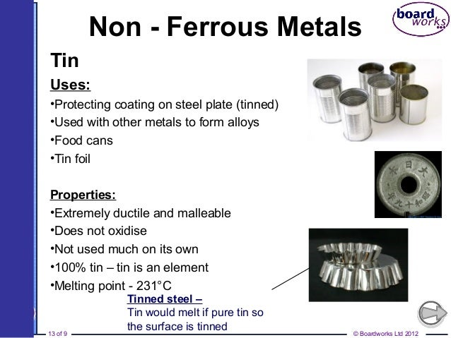 Ferrous and non-ferrous metals