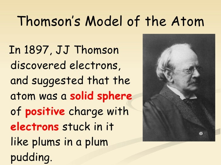 plum pudding model of the atom dating