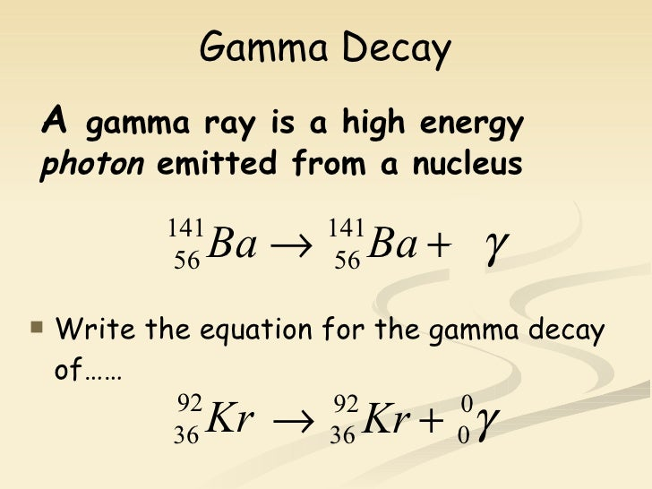 how to write equations for radioactive decay