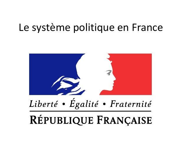 Le système politique en France