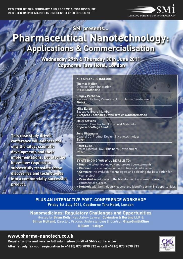 Pharmaceutical Nanotechnology:            Applications & Commercialisation                                           SMi p...